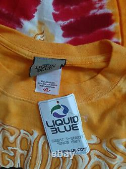Vintage Liquid Blue Grateful Dead Rasta T-Shirt Rare Deadstock New XL