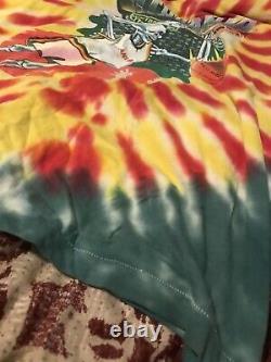 Vintage Lithuania Basketball Tee Grateful Dead Shirt Tie Dye Very RARE 1992 XL