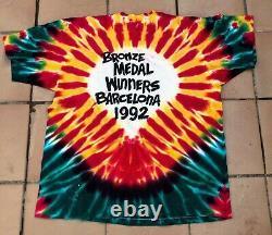 Vintage Lithuania Grateful Dead Bronze Medal 1992 Olympics Shirt. Rare