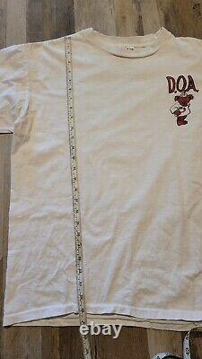 Vintage Rare Grateful Dead On Arrival Bears Ambulance T Shirt Mens Xl White