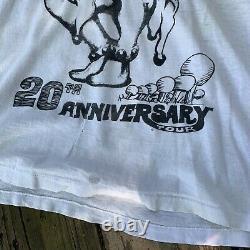 Vintage Rare Thrashed 20th Anniversary Grateful Dead T-shirt Tour