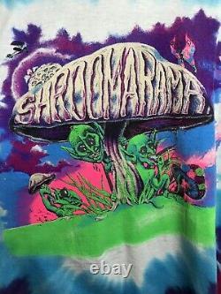 Vintage Shroomarama Tie Dye Psychedelic Hippie Shirt Eye Dye Grateful Dead Rare