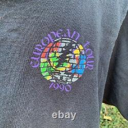 Vtg 1990 GRATEFUL DEAD European Tour-Berlin M Single Stitch T-shirt VERY RARE