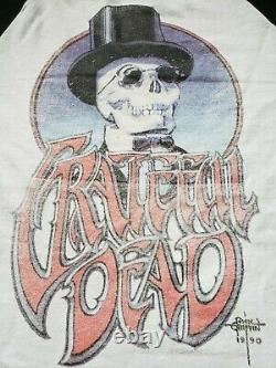 Vtg 1990 GRATEFUL DEAD TOUR SHIRT RARE HTF 25TH ANNIVERSARY LARGE SINGLE STITCH