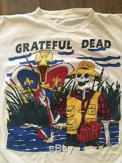 Vtg 1993 Tour Grateful Dead Shirt Fishing Mountain View Sacramento Rare