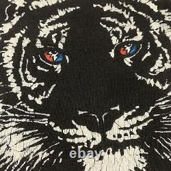 Vtg 1996 GRATEFUL DEAD Tiger With Lightning Eyes L/XL Single Stitch T-shirt RARE